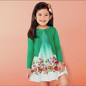 Mayoral Girl's Green Floral Print Dress
